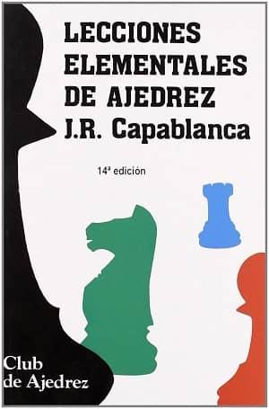 potada del libro lecciones elementales de ajedrez