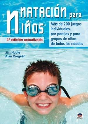 portada del libro natación para niños