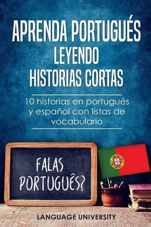 portada del libro aprenda portugués leyendo historias cortas