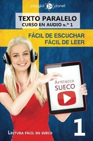portada del libro aprender sueco fácil de escuchar fácil de leer
