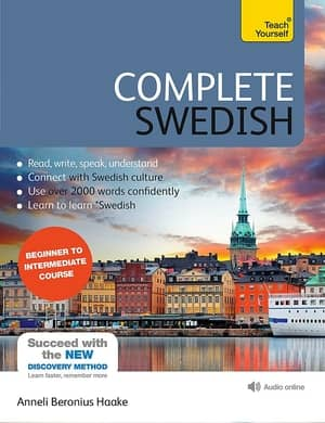 portada del libro complete swedish beginner to intermediate course