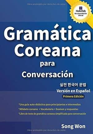 portada del libro gramática coreana para conversación