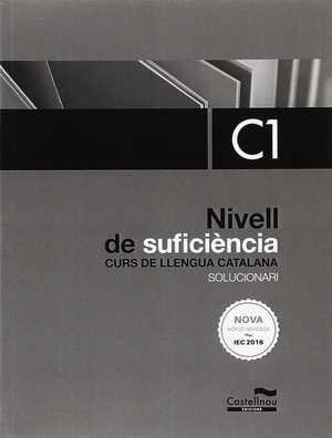 portada del libro solucionari nou nivell C1 de català