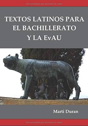 portada del libro textos latinos para el bachillerato y la EvAU
