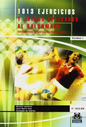 portada del libro 1013 ejercicios y juegos aplicados al balonmano
