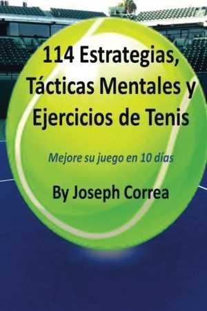portada del libro 114 estrategias tácticas mentales y ejercicios de tenis