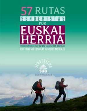 portada del libro 57 rutas senderistas por Euskal Herria