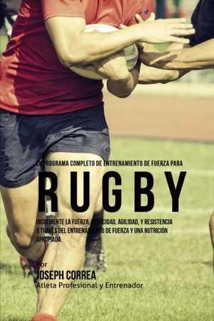 portada del libro el programa completo de entrenamiento de fuerza para rugby