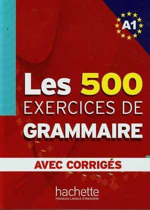 portada del libro les 500 exercices de grammaire avec corrigés