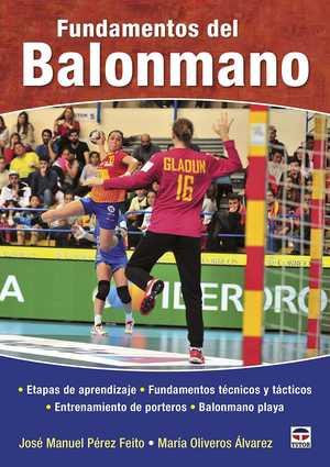 portada del libro fundamentos del balonmano