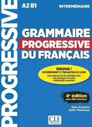 portada del libro grammaire progressive du français