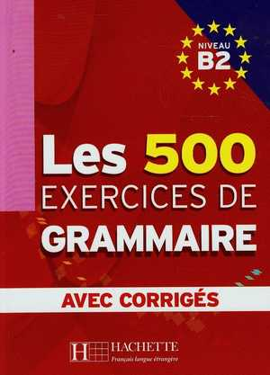 portada del libro les 500 exercices de grammaire