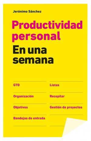 portada del libro productividad personal en una semana