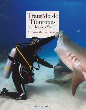 portada del libro tratando de tiburones
