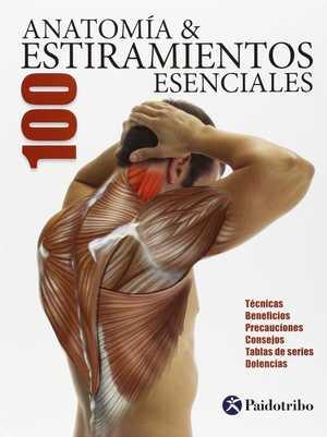 portada del libro anatomía 100 estiramientos esenciales