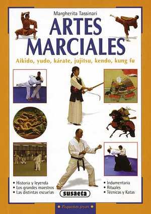 portada del libro artes marciales aikido, yudo, karate, jujitso, kendo y kung fu