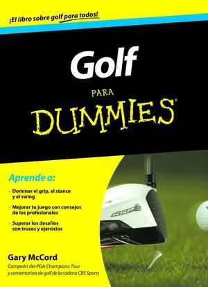 portada del libro golf para dummies