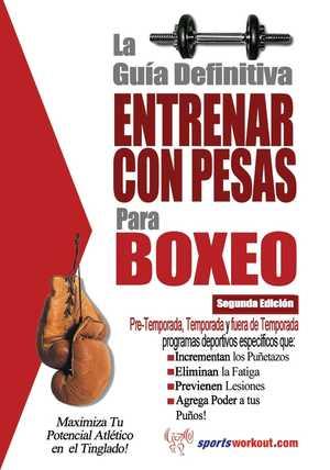 portada del libro la guía definitiva entrenar con pesas para boxeo
