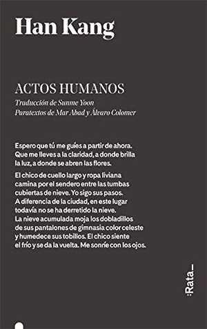 portada del libro actos humanos