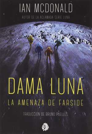 portada del libro dama Luna La amenaza de Farside