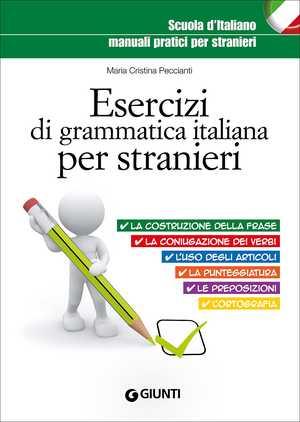 portada del libro esercizi di grammatica italiana per stranieri