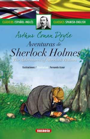 portada del libro aventuras de sherlock holmes