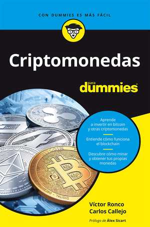 portada del libro criptomonedas para dummies
