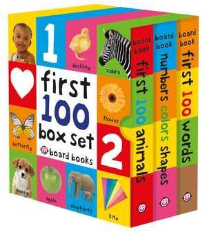 portada del libro first 100 board book box set