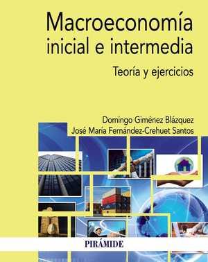 portada del libro macroeconomía inicial e intermedia