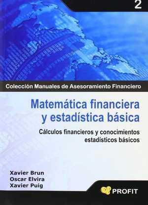 portada del libro matemática financiera y estadística básica