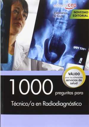 portada del libro 1000 preguntas para técnico/a en radiodiagnóstico