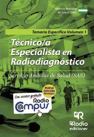 portada del libro temario para técnico especialista en radiodiagnóstico 1
